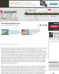 The Mayflower Maneuver: NowPublic